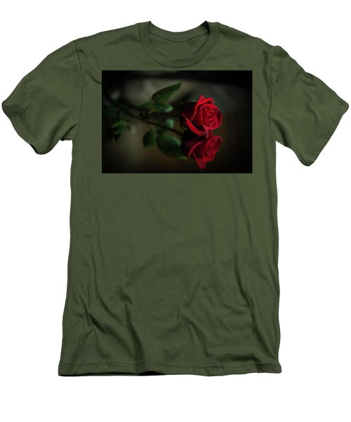 Rose Reflected Men's T-Shirt (Athletic Fit)