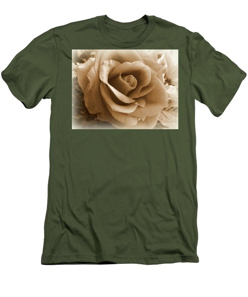Rose Vignette Men's T-Shirt (Athletic Fit)