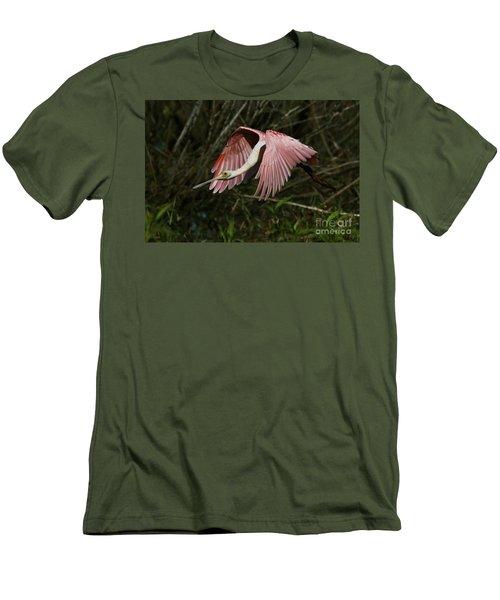 Roseate Spoonbill Flight Men's T-Shirt (Athletic Fit)