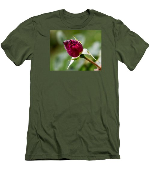 Men's T-Shirt (Slim Fit) featuring the photograph Rosebud by Cathy Donohoue