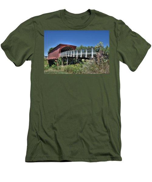 Men's T-Shirt (Slim Fit) featuring the photograph Roseman Bridge No. 5 by Janice Adomeit