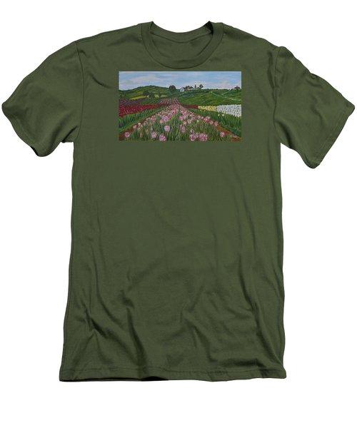 Walking In Paradise Men's T-Shirt (Slim Fit) by Felicia Tica