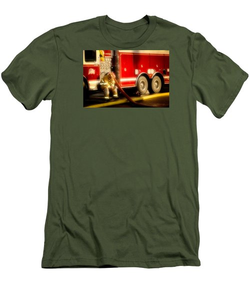 Rough Day Men's T-Shirt (Slim Fit) by Denis Lemay