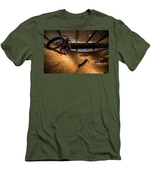 Men's T-Shirt (Slim Fit) featuring the photograph Rounding The Bend by Randy Scherkenbach