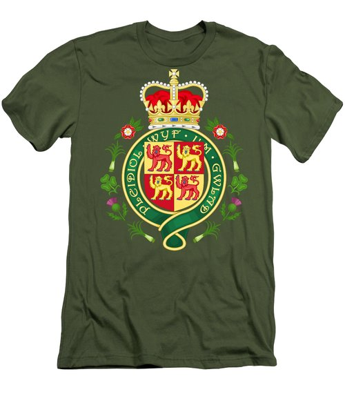 Royal Badge Of Wales Men's T-Shirt (Athletic Fit)