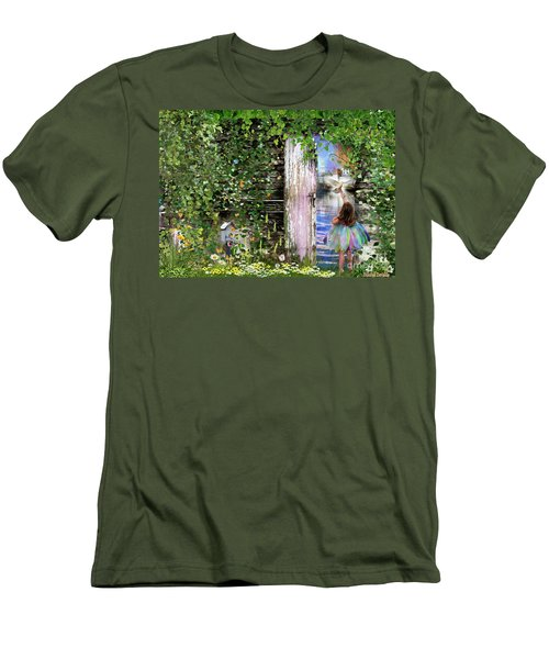 Men's T-Shirt (Slim Fit) featuring the digital art  Ruach Ha-kodesh by Dolores Develde