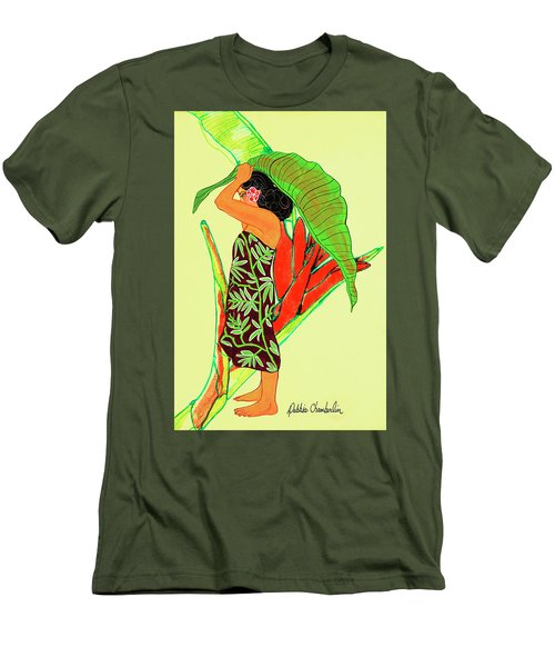 Ruby Palmtree Men's T-Shirt (Athletic Fit)