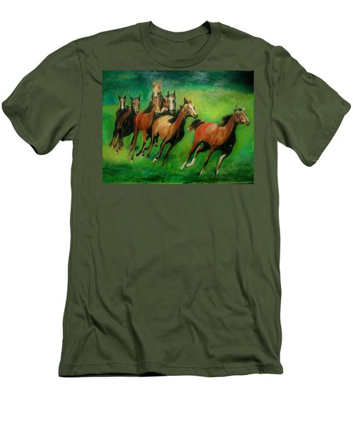 Running Free Men's T-Shirt (Slim Fit) by Khalid Saeed