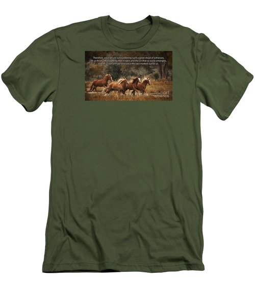Running The Race Men's T-Shirt (Athletic Fit)