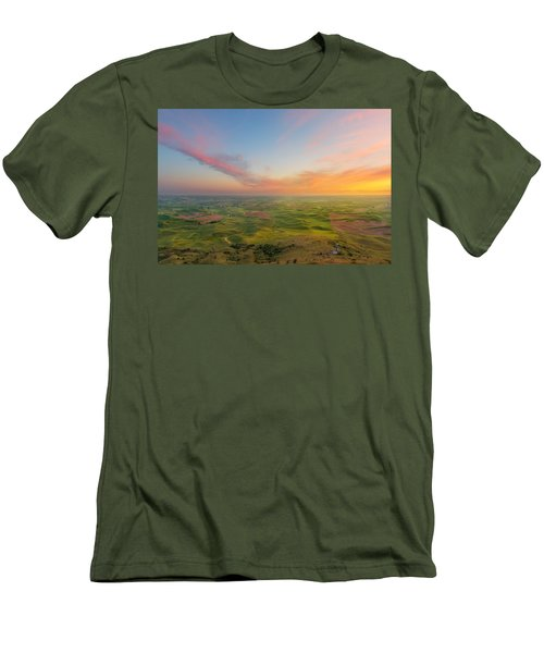 Men's T-Shirt (Slim Fit) featuring the photograph Rural Setting by Ryan Manuel