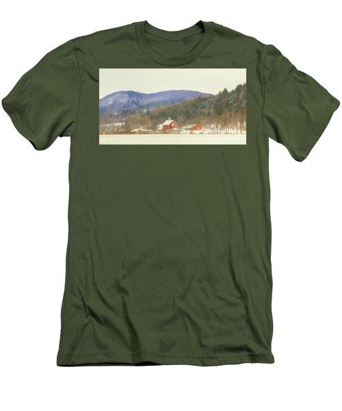 Men's T-Shirt (Slim Fit) featuring the digital art Rural Vermont by Sharon Batdorf