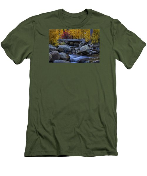 Rushing Into Autumn Men's T-Shirt (Slim Fit) by Mitch Shindelbower