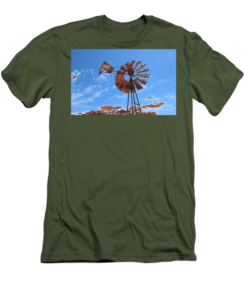 Men's T-Shirt (Slim Fit) featuring the photograph Rust Age by Stephen Mitchell