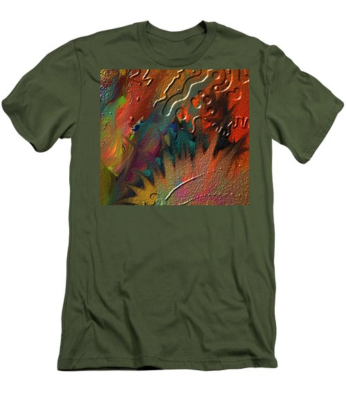 Men's T-Shirt (Slim Fit) featuring the painting Rust Never Sleeps by Kevin Caudill
