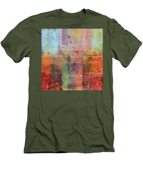 Men's T-Shirt (Athletic Fit) featuring the painting Rust Study 1.0 by Michelle Calkins