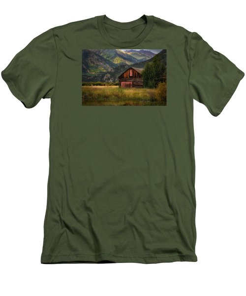 Rustic Colorado Barn Men's T-Shirt (Slim Fit) by John Vose