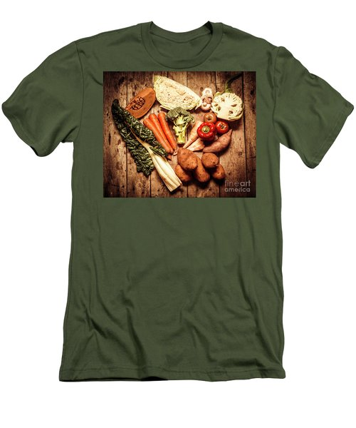 Rustic Style Country Vegetables Men's T-Shirt (Athletic Fit)