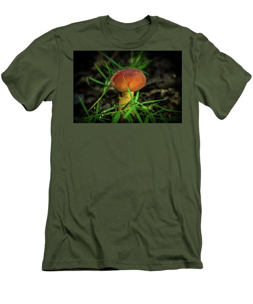 Rusty Brown Plyporacead Amid The Grass Men's T-Shirt (Athletic Fit)