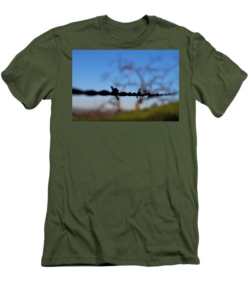Men's T-Shirt (Athletic Fit) featuring the photograph Rusty Gate Rural Tree by Matt Harang