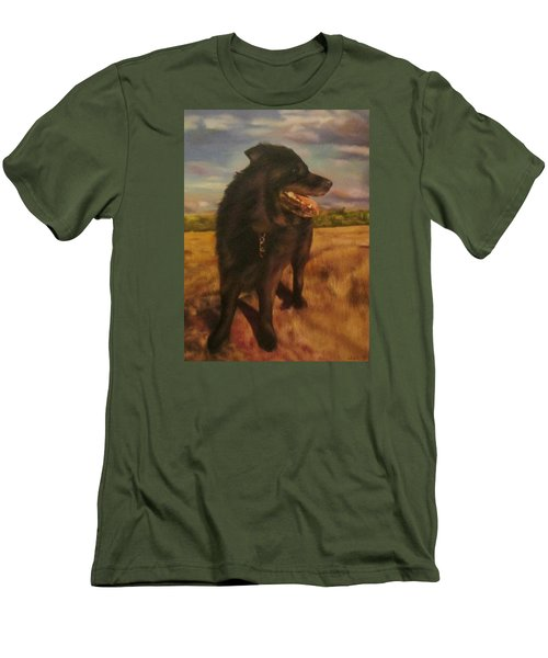 Men's T-Shirt (Slim Fit) featuring the painting Ruudi by Cherise Foster