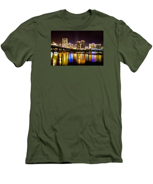 Rva Holiday Skyline 3 Men's T-Shirt (Athletic Fit)
