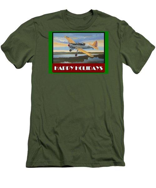 Ryan Pt-22 Happy Holidays Men's T-Shirt (Slim Fit) by Stuart Swartz