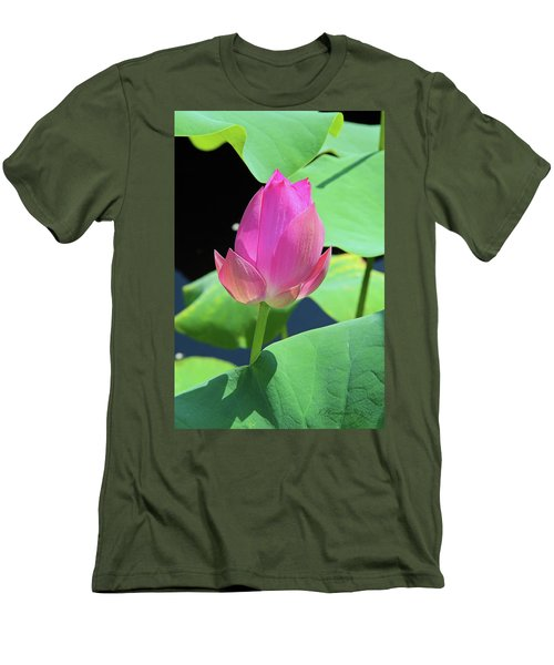 Sacred Pink Men's T-Shirt (Slim Fit) by Inspirational Photo Creations Audrey Woods