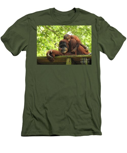 Men's T-Shirt (Slim Fit) featuring the photograph Safe With Mom by Lisa L Silva