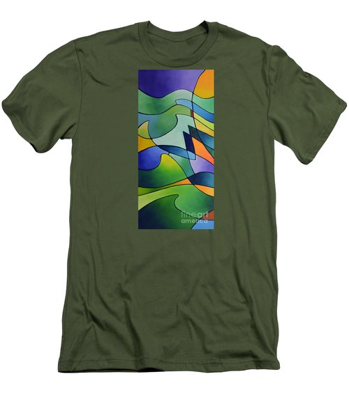 Sailing Away, Canvas One Men's T-Shirt (Athletic Fit)