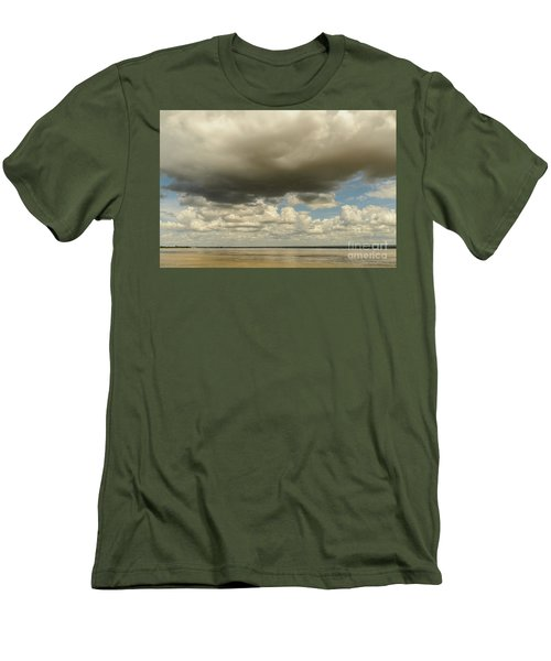 Men's T-Shirt (Slim Fit) featuring the photograph Sailing The Irrawaddy by Werner Padarin