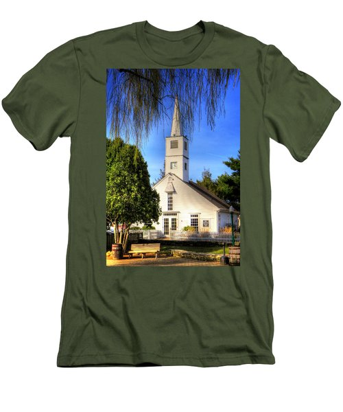 Men's T-Shirt (Slim Fit) featuring the photograph Saint Mathais Angelican Church by Tom Prendergast