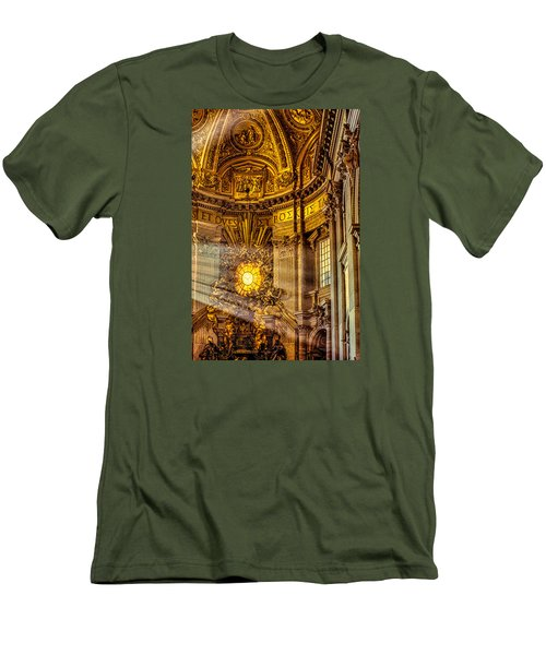 Men's T-Shirt (Slim Fit) featuring the photograph Saint Peter's Chair by Trey Foerster