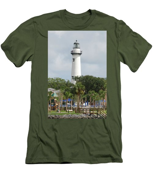 Saint Simons Island Light Men's T-Shirt (Athletic Fit)
