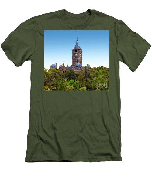 Salt Lake City Hall Men's T-Shirt (Athletic Fit)
