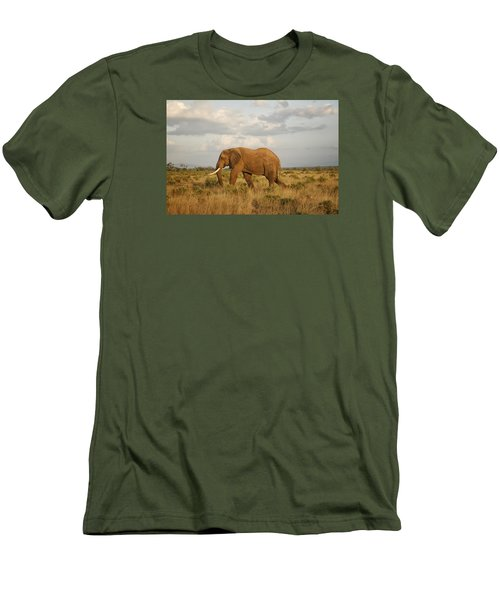 Men's T-Shirt (Slim Fit) featuring the photograph Samburu Giant by Gary Hall