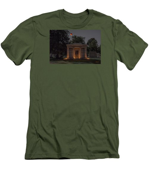 Samuel D. Nicholson Mausoleum Under The Blood Moon Men's T-Shirt (Slim Fit) by Stephen  Johnson
