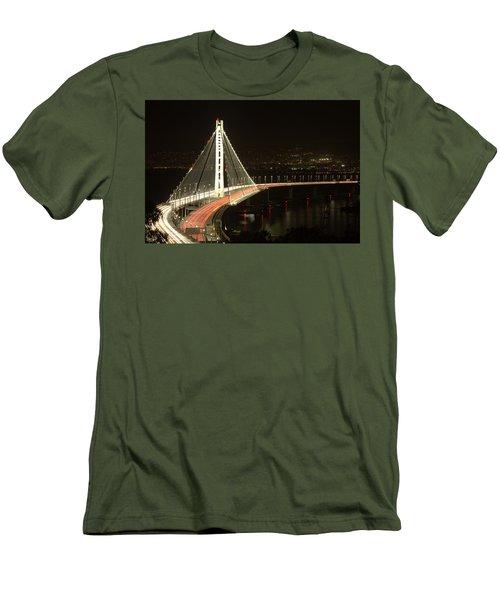 San Francisco Bay Bridge New East Span Men's T-Shirt (Athletic Fit)