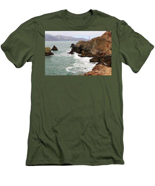 San Francisco Lands End Men's T-Shirt (Slim Fit) by Cheryl Del Toro