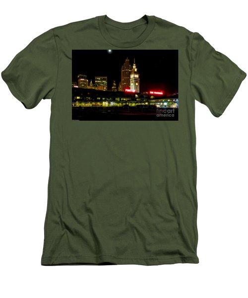 San Francisco Nights Men's T-Shirt (Slim Fit) by Mitch Shindelbower