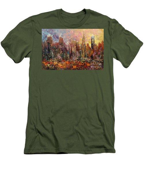 San Francisco Men's T-Shirt (Slim Fit) by Tatiana Iliina