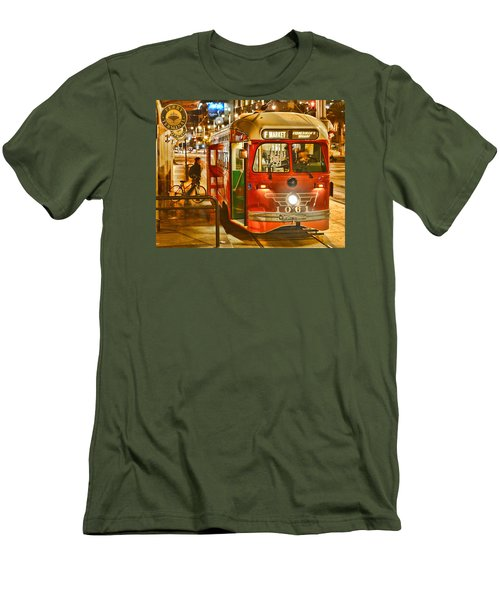 Men's T-Shirt (Athletic Fit) featuring the photograph San Francisco's Ferry Terminal by Steve Siri