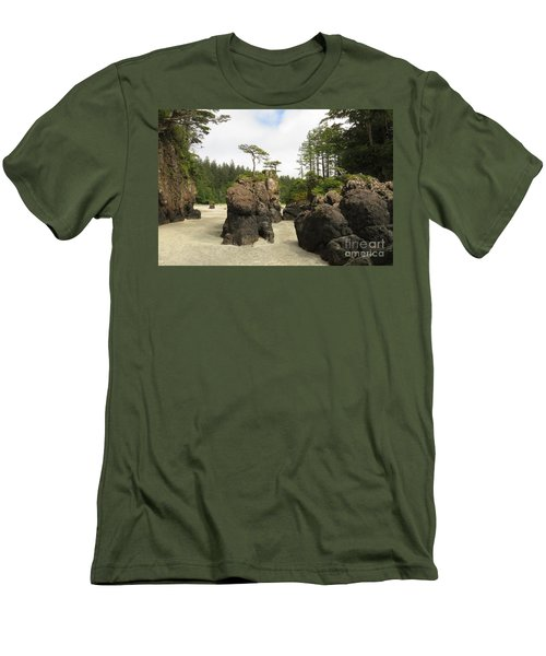 San Josef Stacks Men's T-Shirt (Athletic Fit)