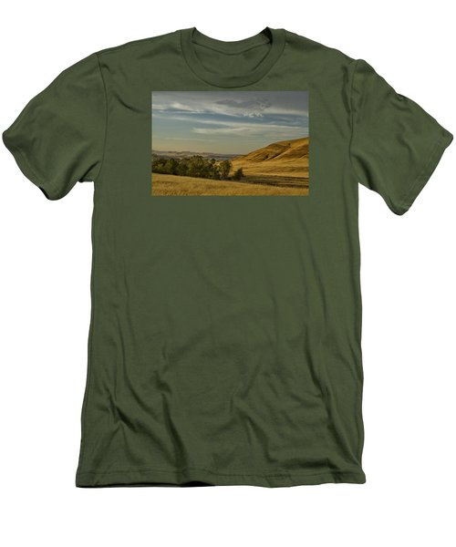 Men's T-Shirt (Slim Fit) featuring the photograph San Luis Reservoir 9891 by Tom Kelly
