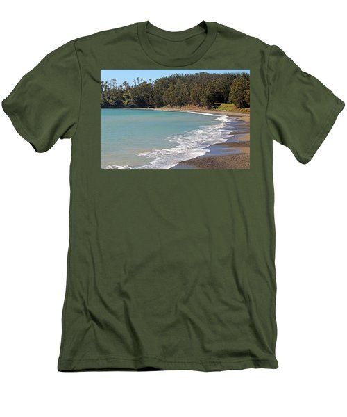 Men's T-Shirt (Slim Fit) featuring the photograph San Simeon Cove by Art Block Collections