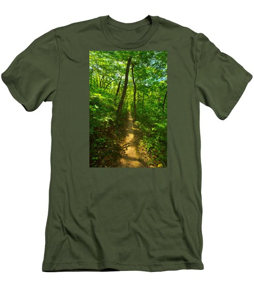 Sand Cave Trail Men's T-Shirt (Slim Fit) by Phil Koch