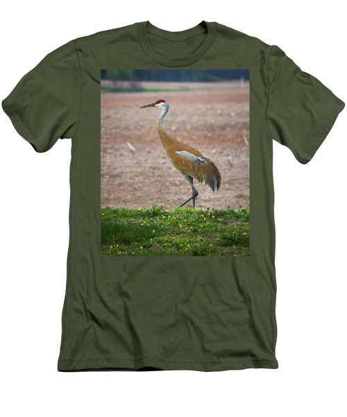 Men's T-Shirt (Athletic Fit) featuring the photograph Sandhill Crane In Profile by Bill Pevlor