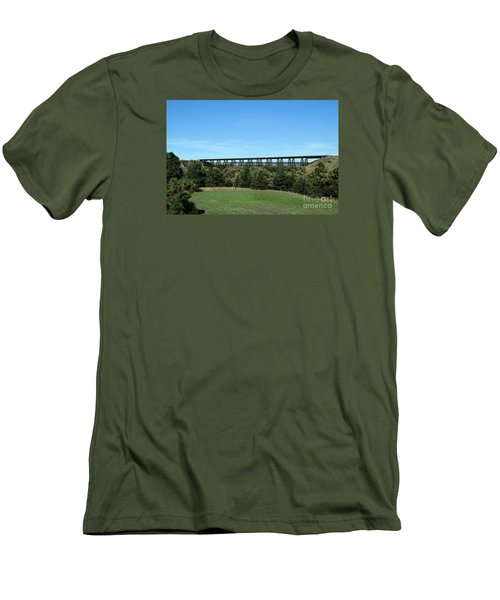 Sandhills Railroad Bridge  Men's T-Shirt (Athletic Fit)