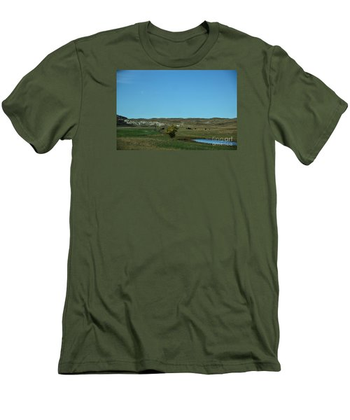 Sandhills Ranch Men's T-Shirt (Slim Fit) by Mark McReynolds