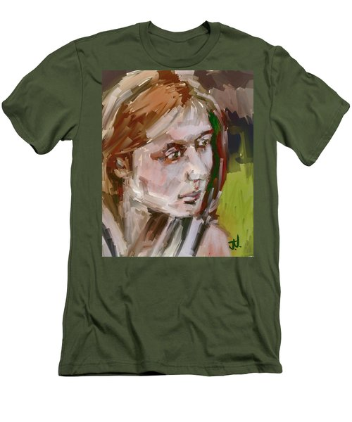 Men's T-Shirt (Athletic Fit) featuring the digital art Sandra by Jim Vance