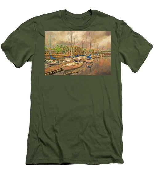 Men's T-Shirt (Athletic Fit) featuring the photograph Sanford Sailboats by Lewis Mann